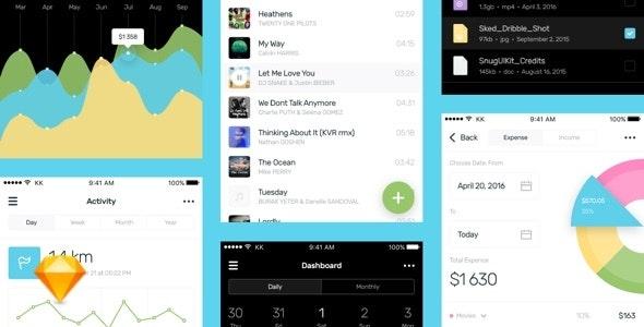 Sked Mobile UI Kit - Sketch UI Templates