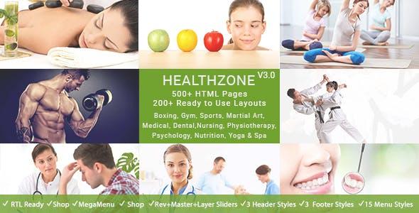 Health zone HTML