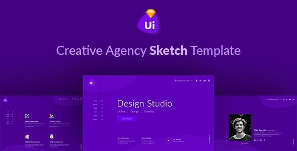 Design Studio - Creative Agency Sketch Template - Sketch UI Templates