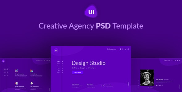Design Studio - Creative Agency PSD Template - Portfolio Creative