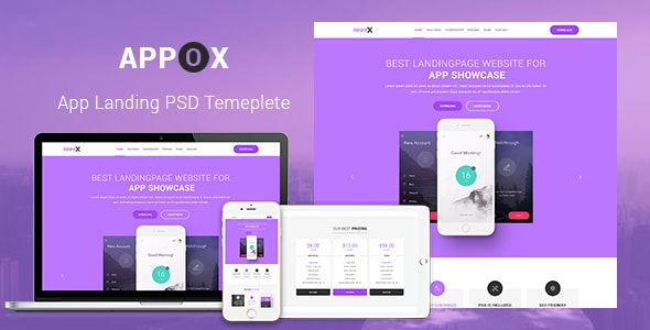 Appox - Apps Landing PSD Template - Software Technology