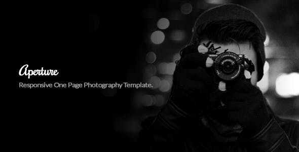 Aperture Minimal One Page Photography Template