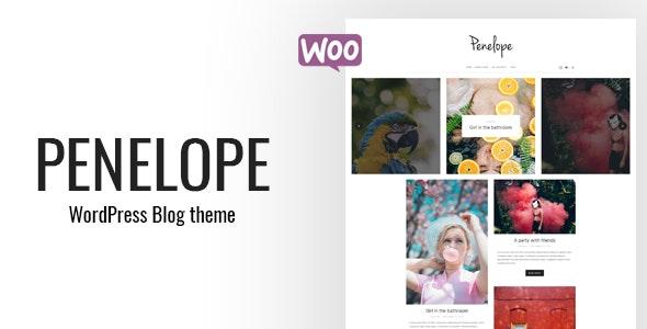 Penelope - A Minimal Blog WordPress Theme - Personal Blog / Magazine
