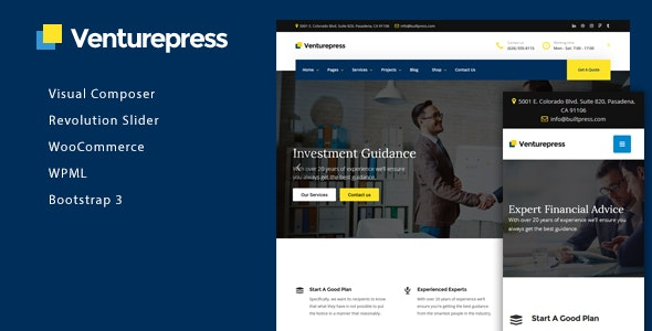 VenturePress - Business & Corporate WordPress Theme - Business Corporate