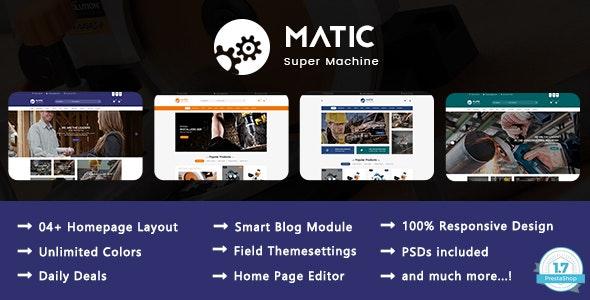 Matic - Super Machine Responsive PrestaShop 1.7 Theme - Technology PrestaShop