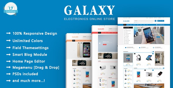 Galaxy - Electronics & Technology PrestaShop 1.7 Theme - Technology PrestaShop