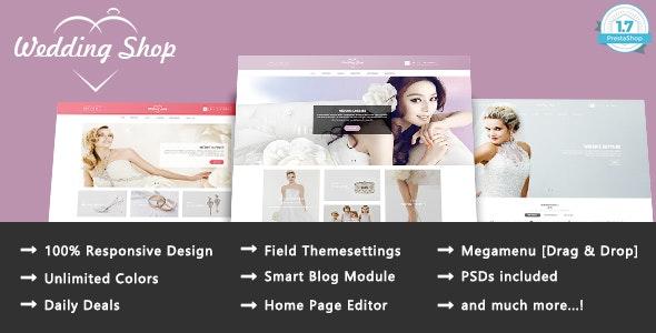 Wedding Shop - Love Paradise Responsive PrestaShop 1.7 Theme - Health & Beauty PrestaShop