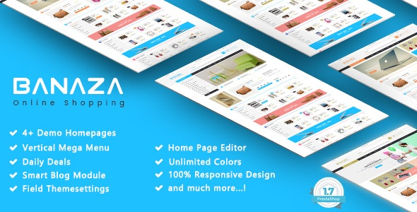 Banaza - Shopping SuperMarket Responsive PrestaShop 1.7 Theme - Shopping PrestaShop