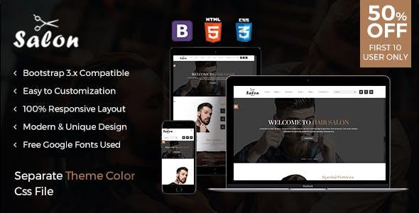 The Salon - Responsive html template