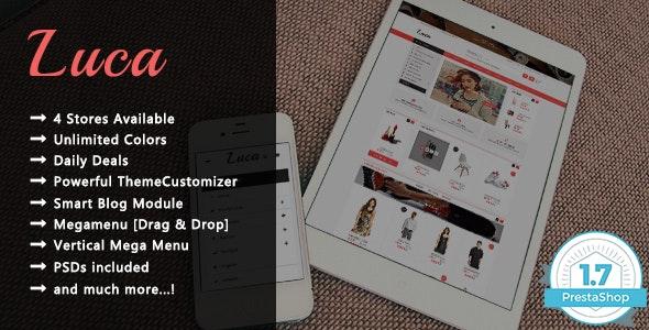 Luca - Creative Shopping Responsive PrestaShop 1.7 Theme - Shopping PrestaShop