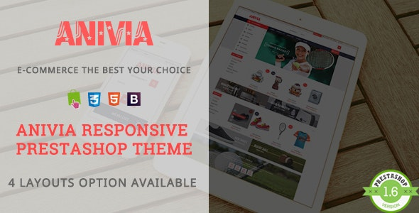 Anivia - Shopping Sports & Shoes Responsive PrestaShop Theme - Shopping PrestaShop