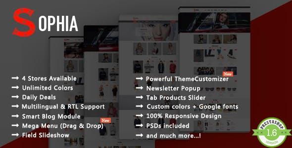 Sophia - Fashion T-shirt & Dress Responsive PrestaShop Theme