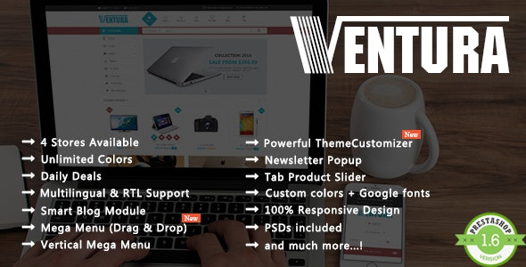 Ventura - Shopping Electronics & Digital Responsive PrestaShop Theme - Shopping PrestaShop