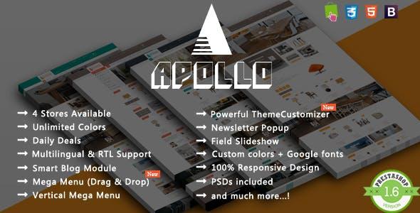 Apollo - Modern Interior Furniture Responsive PrestaShop Theme