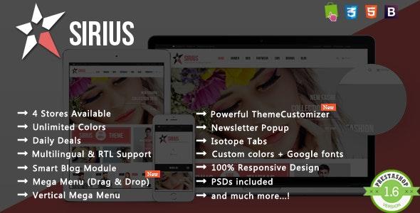 Sirius - T-shirt & Dress Fashion Responsive PrestaShop Theme - Fashion PrestaShop