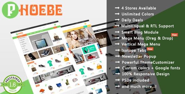 Phoebe - Shopping Cosmetic & Jewelry Responsive PrestaShop Theme