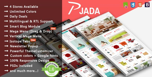 Pjada - Modern Furniture Responsive PrestaShop Theme