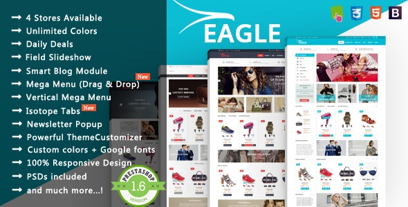 Eagle - Minimalist Shopping & Accessories Responsive PrestaShop Theme - Fashion PrestaShop