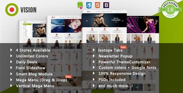 Vision - Vest & Dress Fashion Responsive PrestaShop Theme
