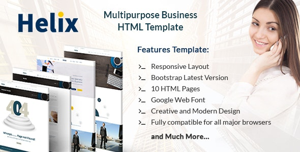Helix - Responsive One Page HTML Template - Business Corporate