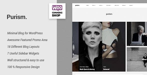 Purism - WordPress Blog Theme - Personal Blog / Magazine