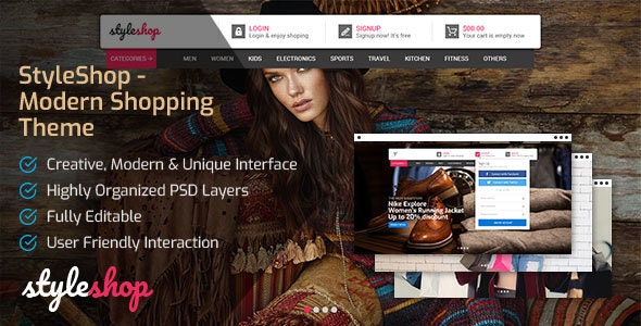 StyleShop - Modern Shopping Theme - Shopping Retail