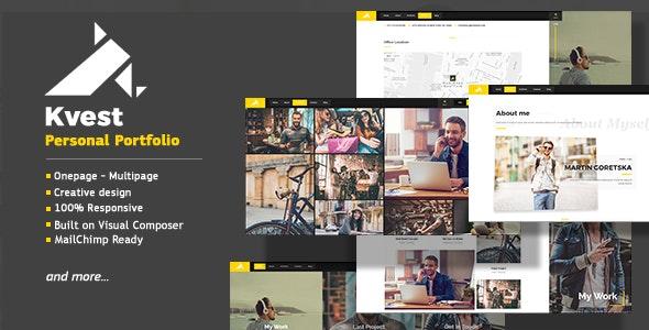 Kvest - Creative Responsive Personal Portfolio WordPress Theme - Portfolio Creative