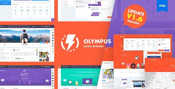 Olympus Social Network PSD Template V1.6