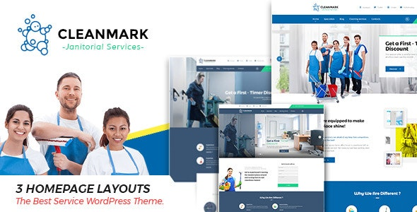 Cleanmark - Cleaning Janitorial Service WordPress Theme - Business Corporate