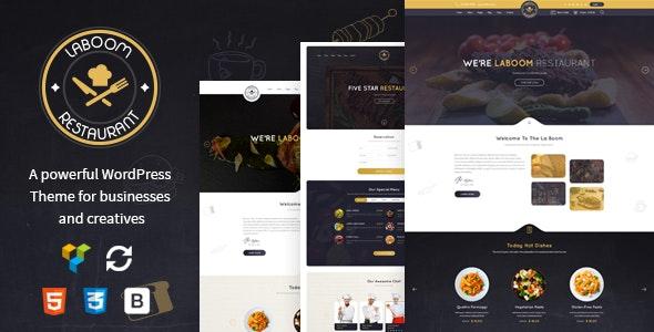 La Boom - Food & Restaurant Bistro WordPress Theme - Restaurants & Cafes Entertainment