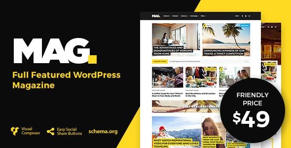 Mag | Full Featured WordPress Magazine - News / Editorial Blog / Magazine