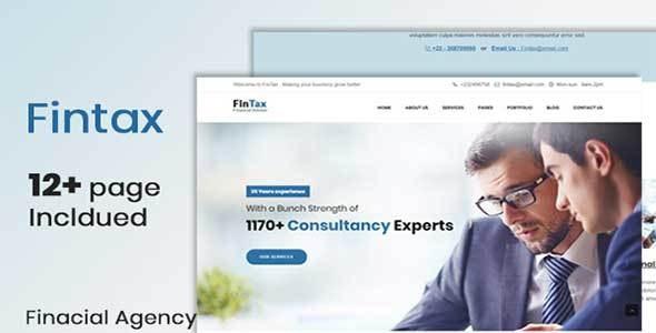 Fintax-Multipurpose Financial template - Technology Site Templates