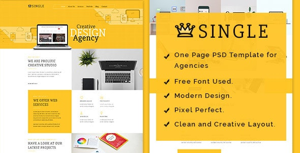 Single - One Page PSD Template - Business Corporate