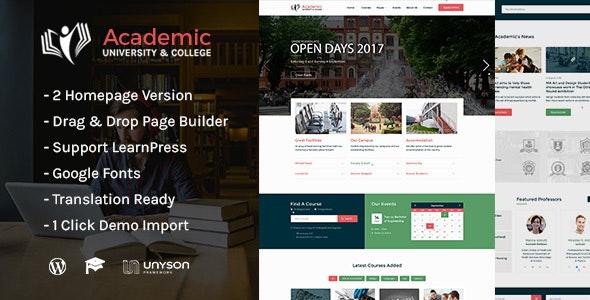 Academic - Education WordPress Theme - Education WordPress