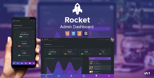 Rocket - Responsive Admin Dashboard - Admin Templates Site Templates