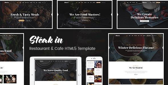 Steak In - Restaurant & Cafe HTML5 Template - Food Retail