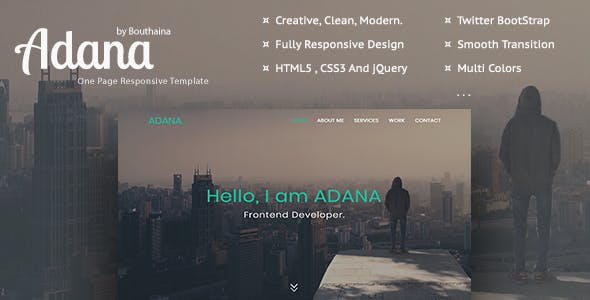 Adana - One Page Personal Template