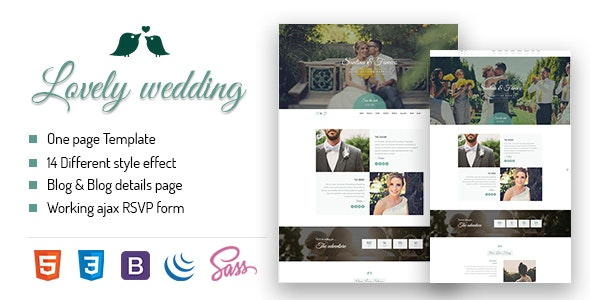 Lovely Wedding -Full Responsive Template - Wedding Site Templates