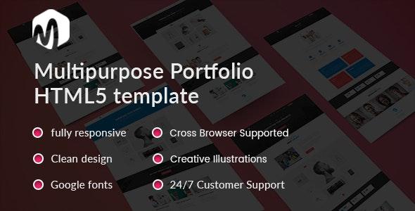 Mat - Material Portfolio Showcase Template - Portfolio Creative