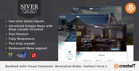 Siver - Luxury Resort WordPress Theme