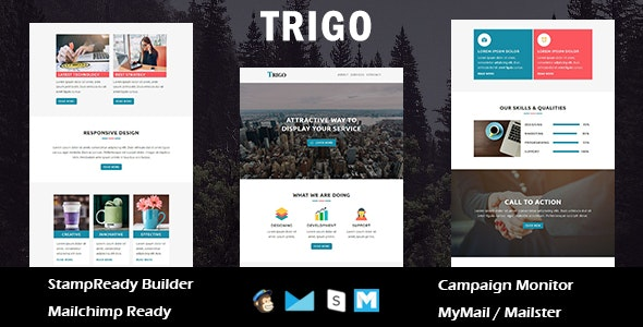 Trigo  - Multipurpose Responsive Email Templates with Stamp Ready Builder Access - Newsletters Email Templates
