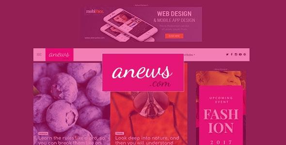 aNews - WordPress Theme for Magazine and Blog - News / Editorial Blog / Magazine