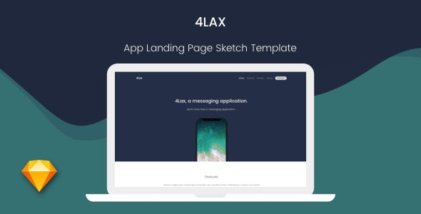 4Lax - App Landing Page - Marketing Corporate