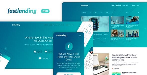 fastlanding - Creative Landing Page - PSD Template - Photoshop UI Templates