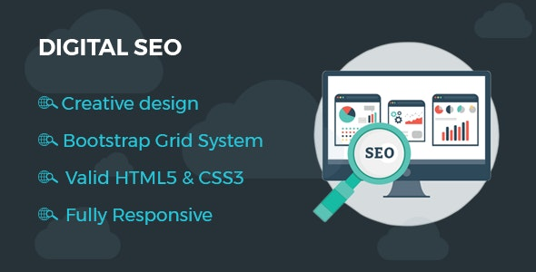 Digitalseo - HTML One Page Template for SEO - Business Corporate