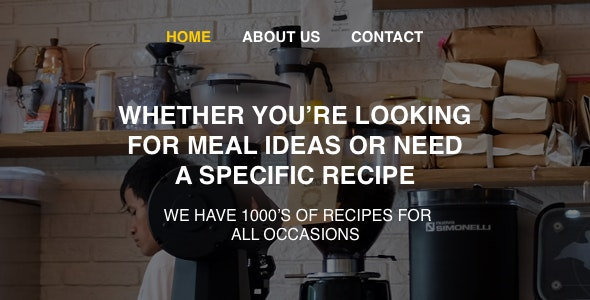 Recipes – Responsive HTML5 Template - Food Retail