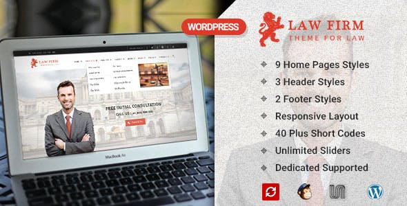 Law Firm and Lawyer - WordPress Theme