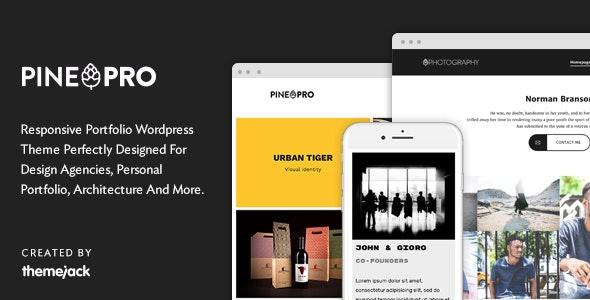 Pine PRO - Responsive Portfolio WordPress Theme - Portfolio Creative