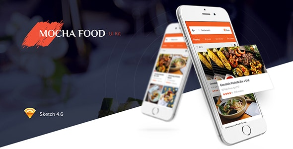 Mocha Food UI Kit - Restaurants & Cafes Entertainment
