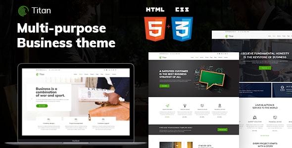 Titan - Business HTML5 Template - Business Corporate